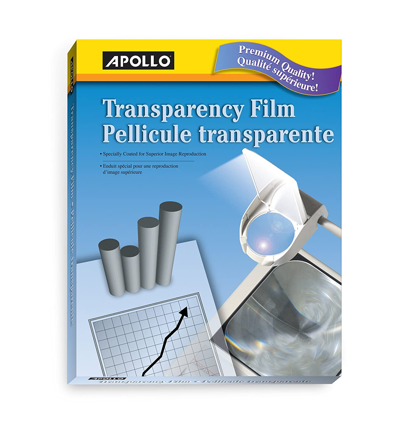 Apollo Plain Paper Copier Film, With Stripe 100 Sheets/box, 1857509231