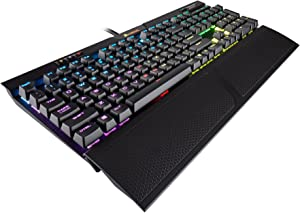Corsair K70 RGB MK.2 RAPIDFIRE Mechanical Gaming Keyboard - USB Passthrough & Media Controls - Fastest & Linear - Cherry MXSpeed - RGB LED Backlit