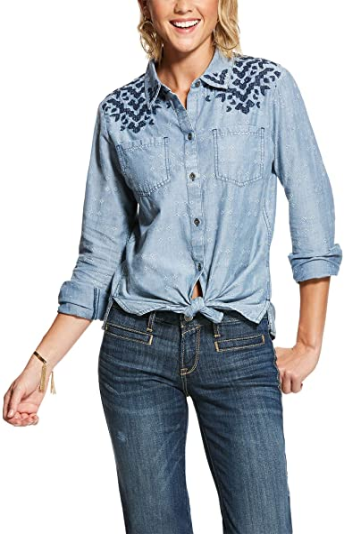 ARIAT Camisa de Cuatro Esquinas para Mujer - Beige - XX-Large ...