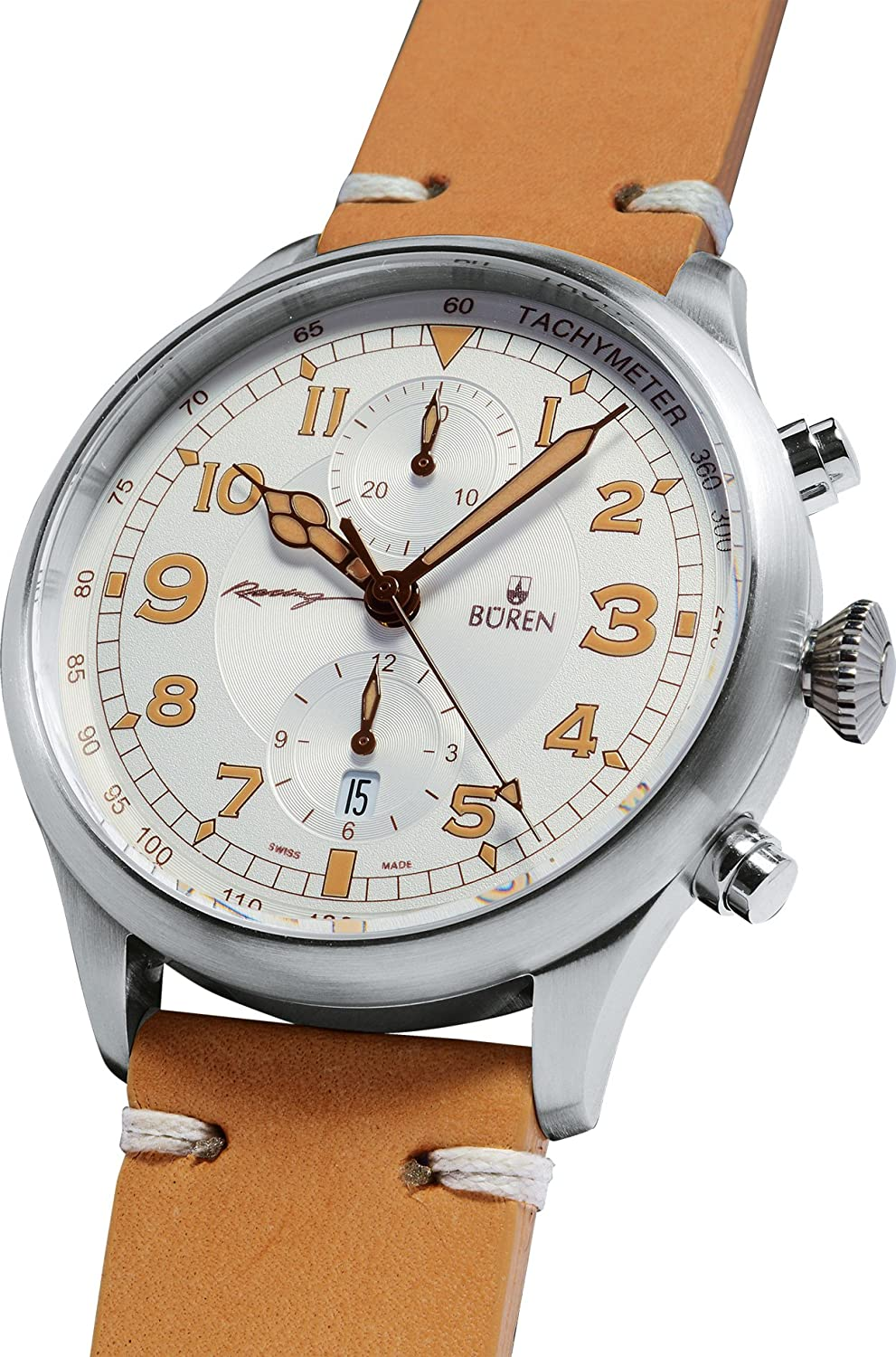 BÜREN Herrenuhr Chronograph Racing
