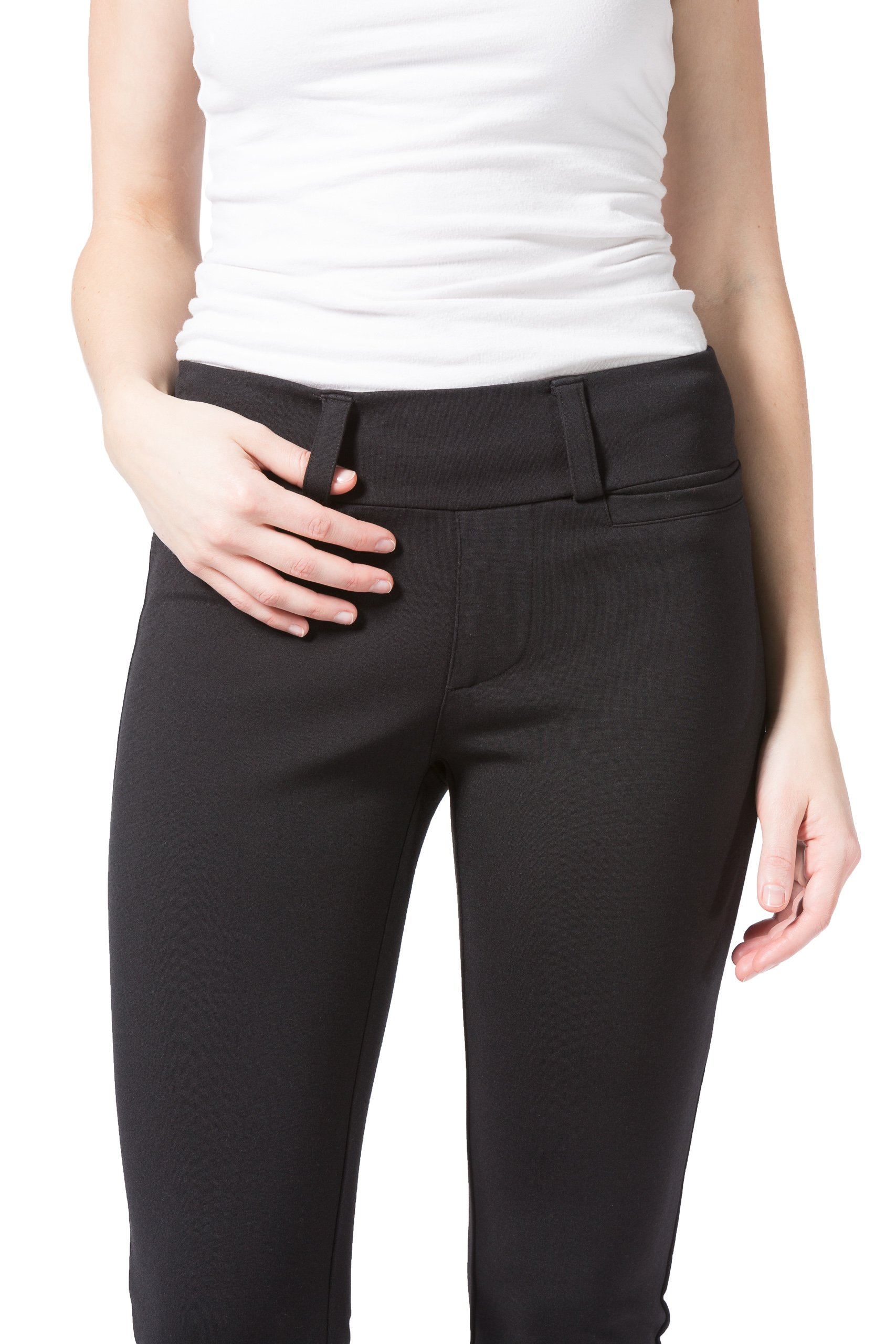 Fishers Finery Women's Ponte Boot Leg Dress Pant; Pull On (Black, M Petite) by Fishers Finery (Image #4)