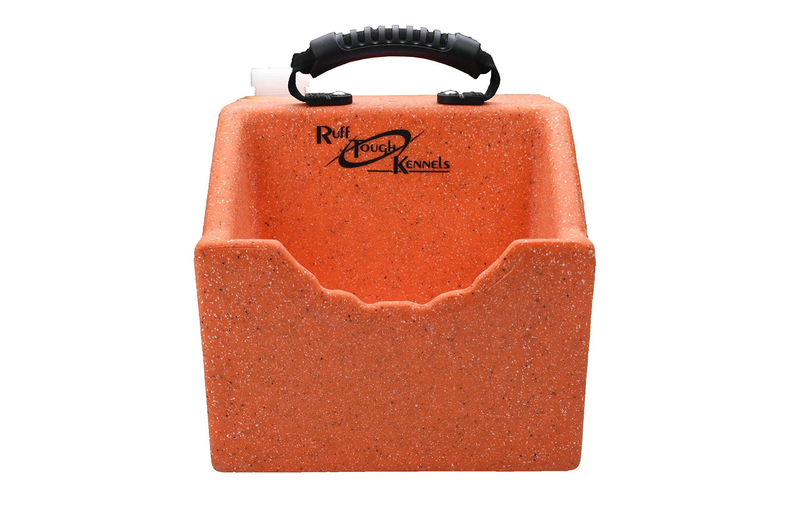 Ruff Tough Kennels Dog Water, Bowl, Orange Color, Easy to use Portable Water Station, Holds 1 Gallon of water, 10.5'' long, 10''wide, 11.5''Tall (Orange)