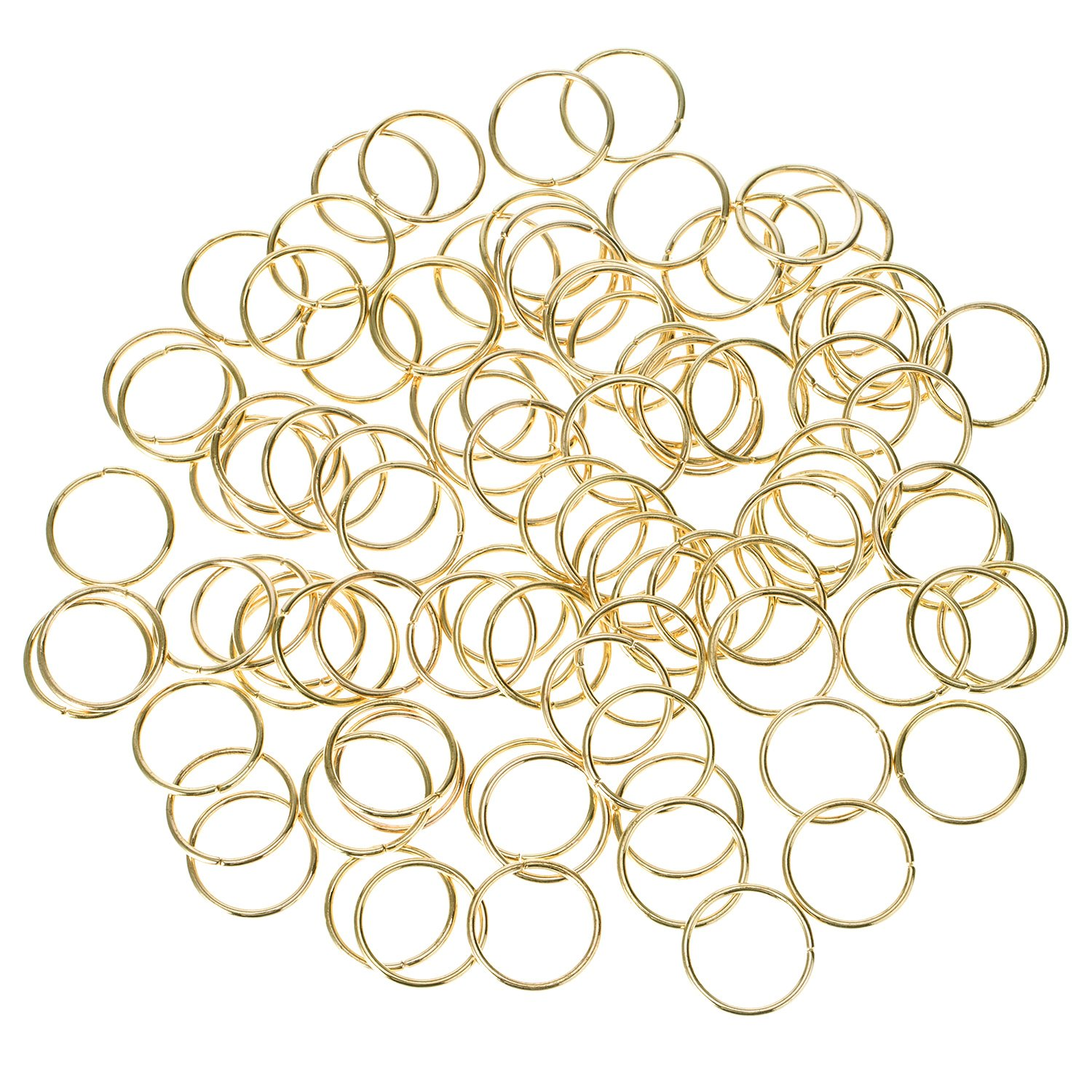 100 Pack Hair Rings Braid Rings Hair Loop Clips Hair Accessories (Silver) Hotop