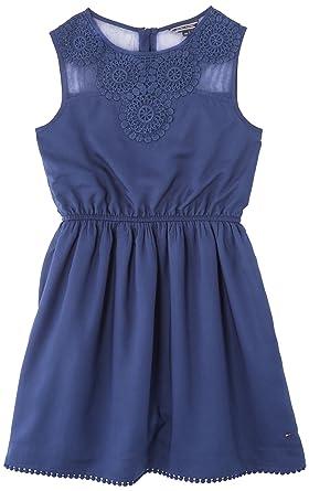 2d5687634d659 Tommy Hilfiger Girls' Dress - Blue - Bleu (Medieval Blue) - 14 years ...