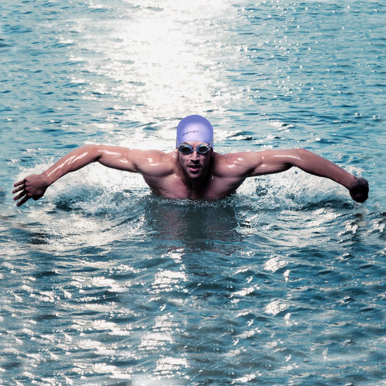 Plata Ni/ña Profesional Bebe Competicion Adulto Ni/ño Infantil Aguas Vetoky Abiertas Silicona Mar Junior Triatlon Rosa Gorros-nataci/ón-piscina-mujer-hombre-ni/ños Negro Azul