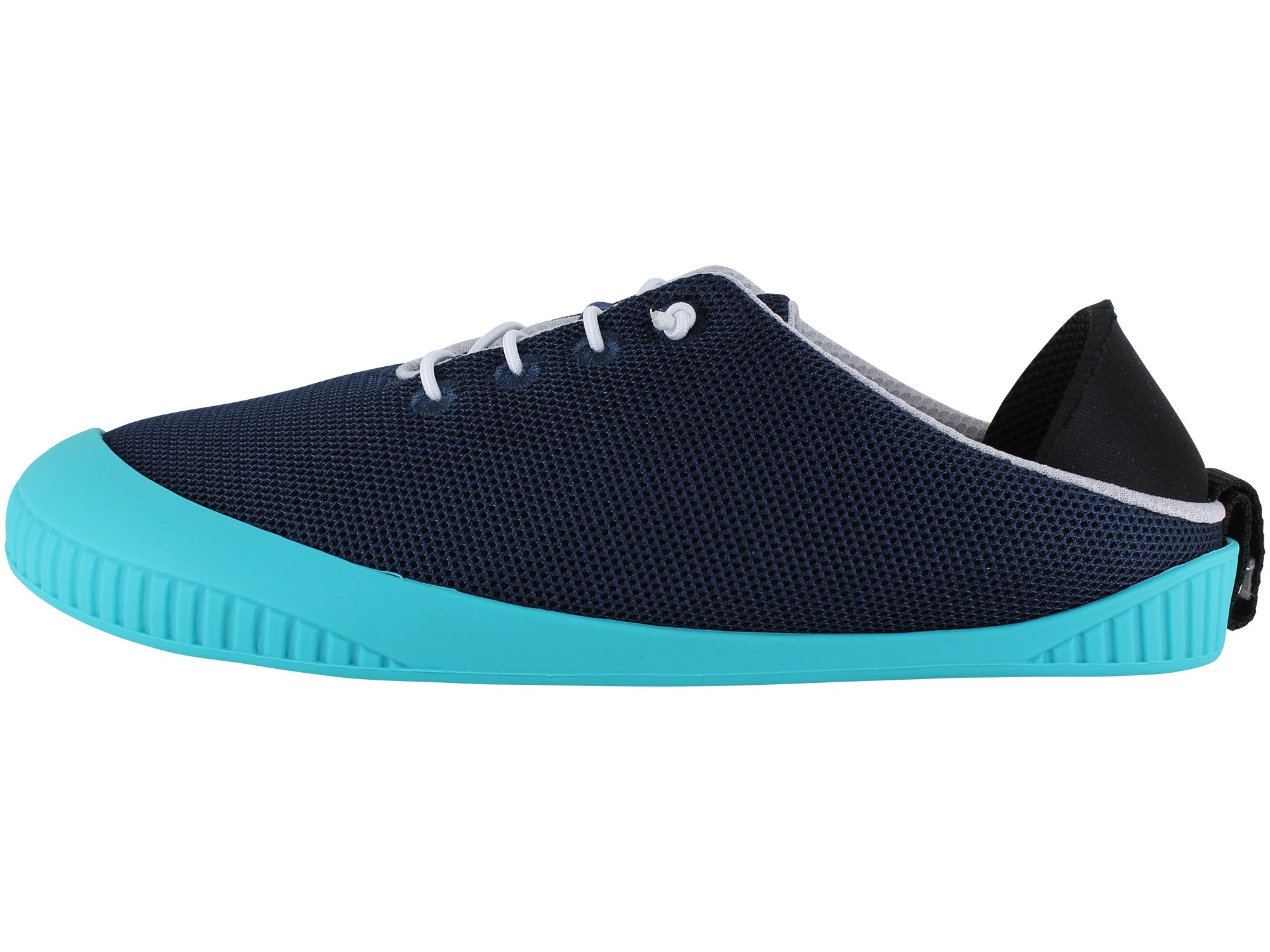 Dualyz Fit Breezy Summer Slipper Shoe Navy MESH with Teal Sole