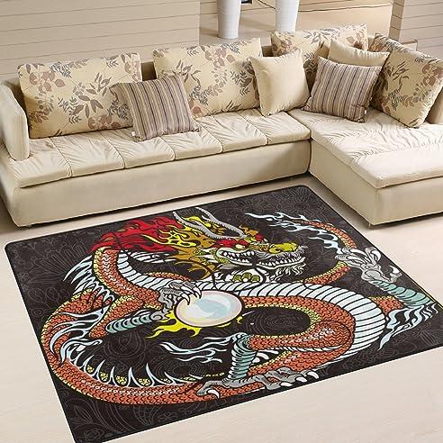 chinesischer drache bereich teppich teppich fumatte fr esszimmer wohnzimmer schlafzimmer 5 76 - Esszimmer Bereich Teppiche