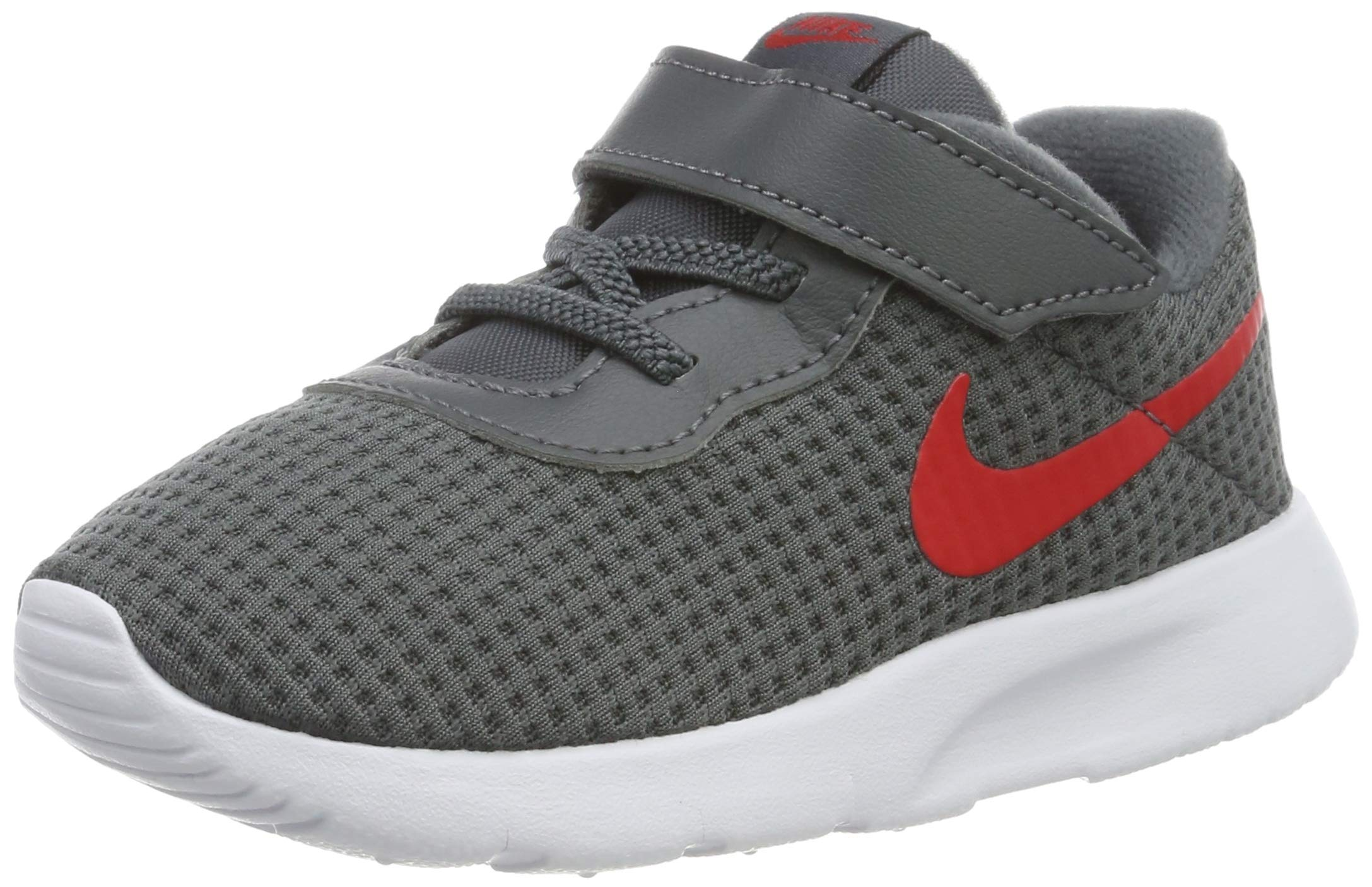 Nike Kid's Tanjun Running Shoe (7 M US Toddler, Dark Grey/University Red/White)