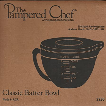 PAMPERED CHEF #2431 6 CUP GLASS CLASSIC BATTER BOWL NEW 2013 STYLE ...