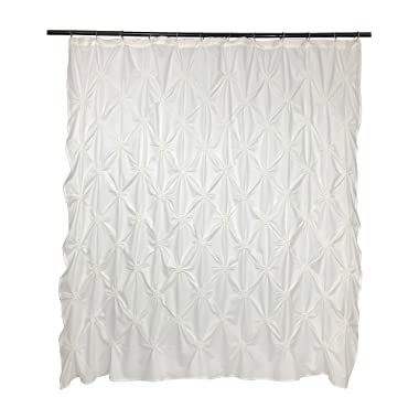 VCNY Home Floral Burst Shower Curtain, 72x72, Off-White