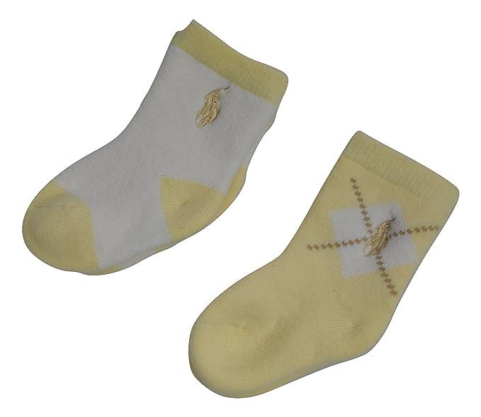 Ralph Lauren - Calcetines - para bebé niño Amarillo amarillo Talla única: Amazon.es: Ropa y accesorios