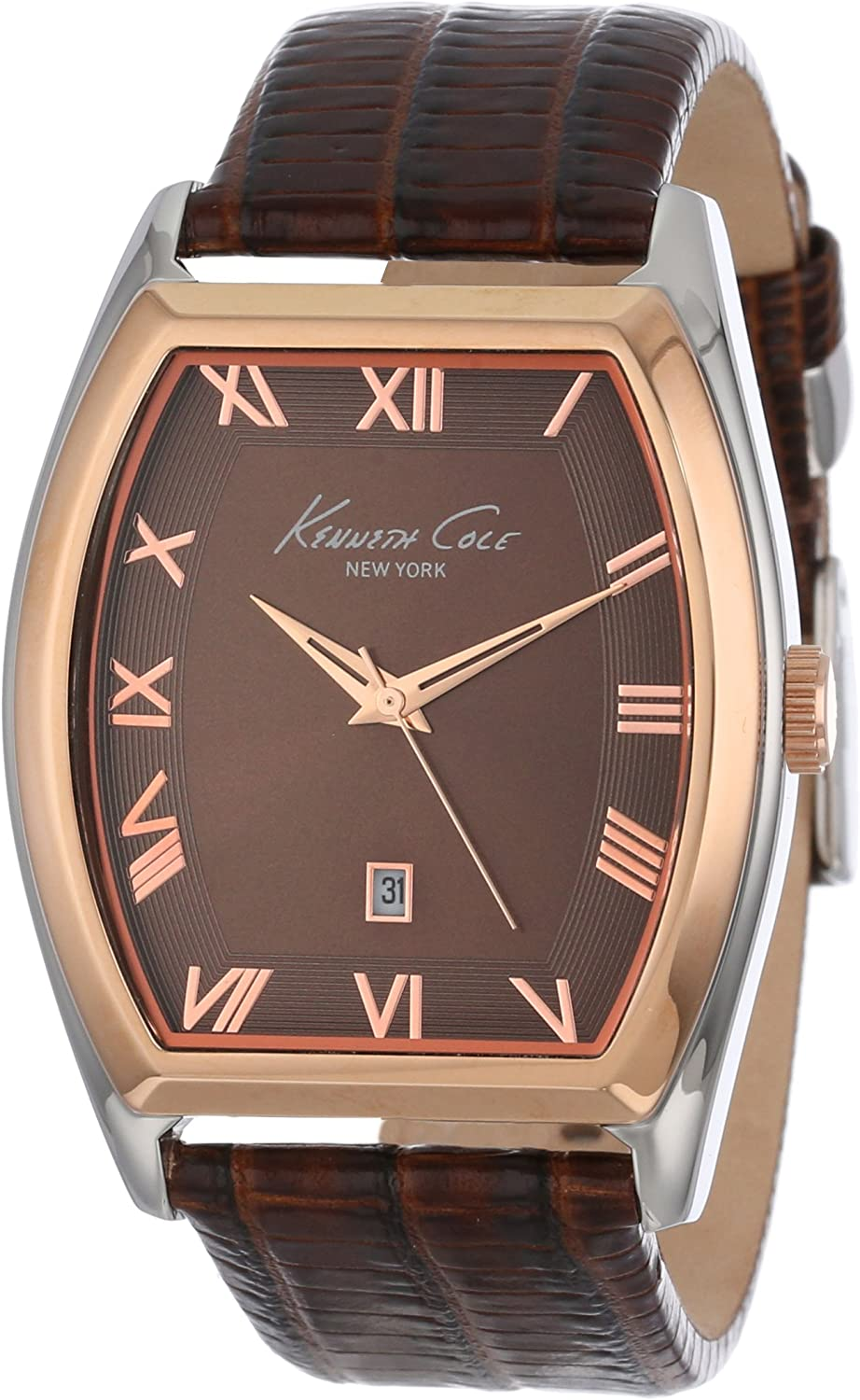 Kenneth Cole New York Men s Japanese Quartz Stainless Steel Case Leather Strap Brown, Model KC1891