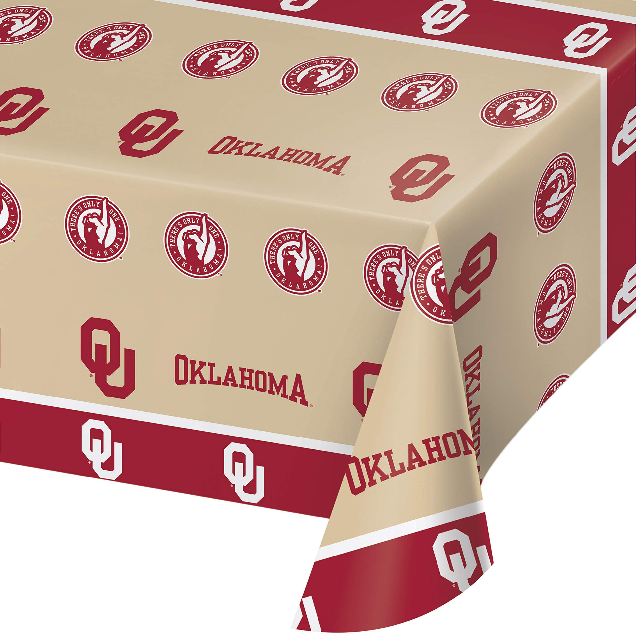 University of Oklahoma Plastic Tablecloths, 3 ct by Creative Converting