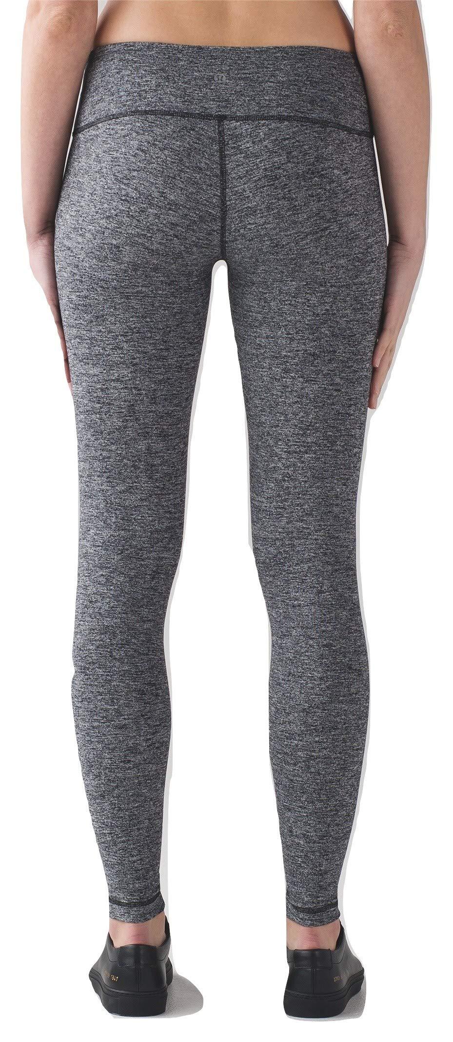 Lululemon Wunder Under Low Rise Tight Yoga Pants (Heathered Black, 12) by Lululemon (Image #1)