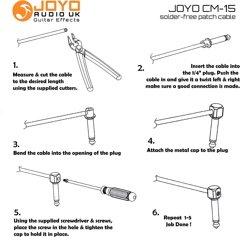 Joyo cm-15 sin soldadura Cable Patch Guitarra Pedalboard Kit con ...
