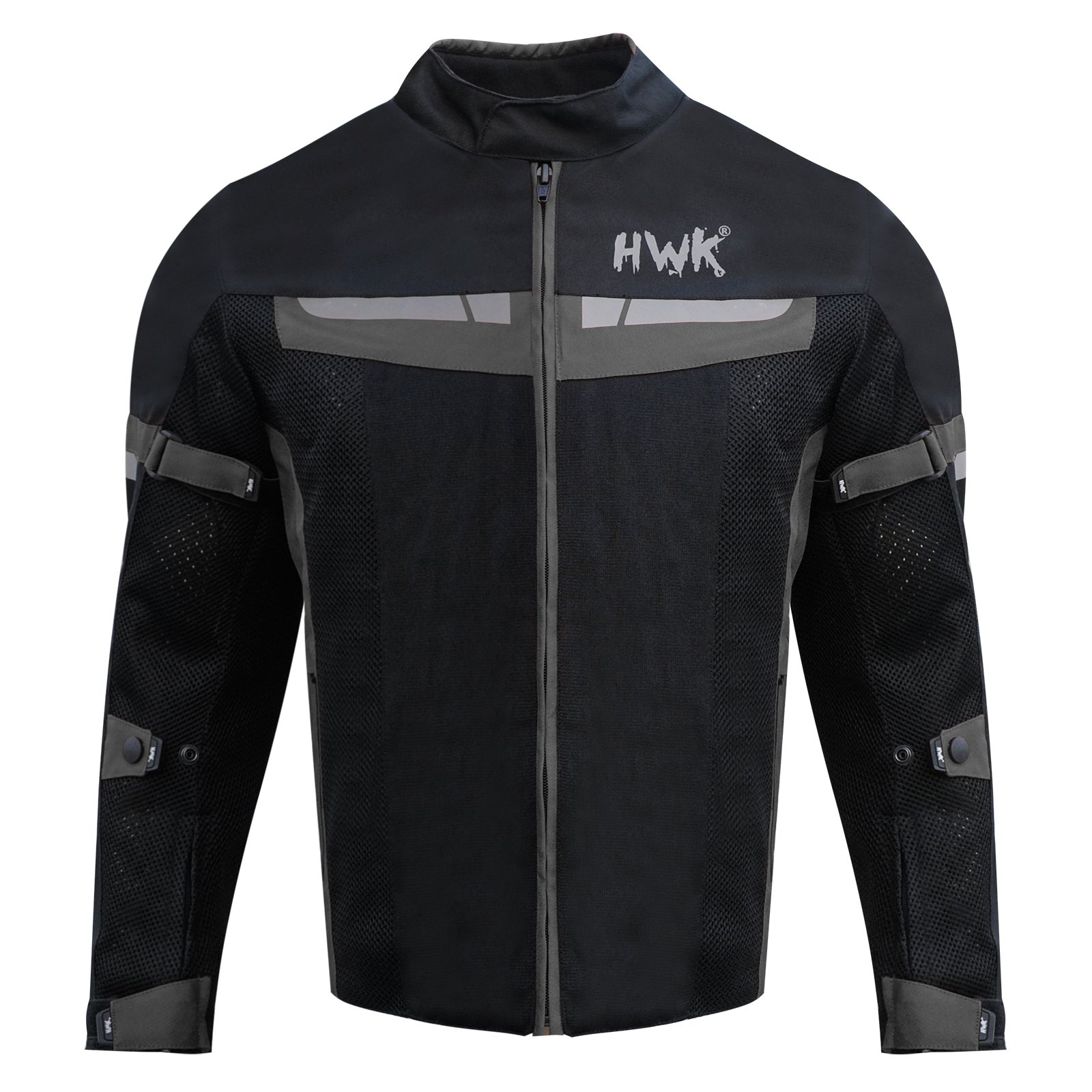 HWK Mesh Motorcycle Jacket Riding Air Motorbike Jacket Biker CE Armored Breathable (Small, Black)