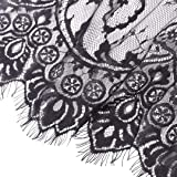 Black Lace Fabric Embroidery by The Yard Black