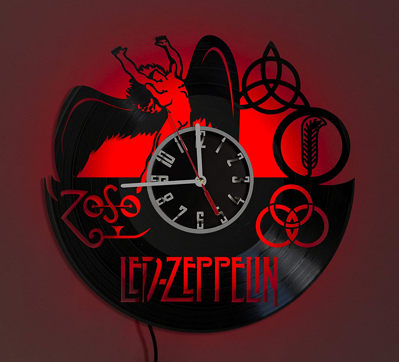 LED ZEPPELIN LED LIGHT Vinyl Record Wall Clock Wonderful Handmade Gift Amazing Home D/écor Night Light Night Lamp