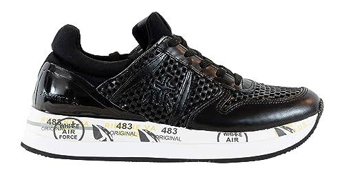PREMIATA Sneakers Scarpe Donna Made in Italy Nere Liz 3358