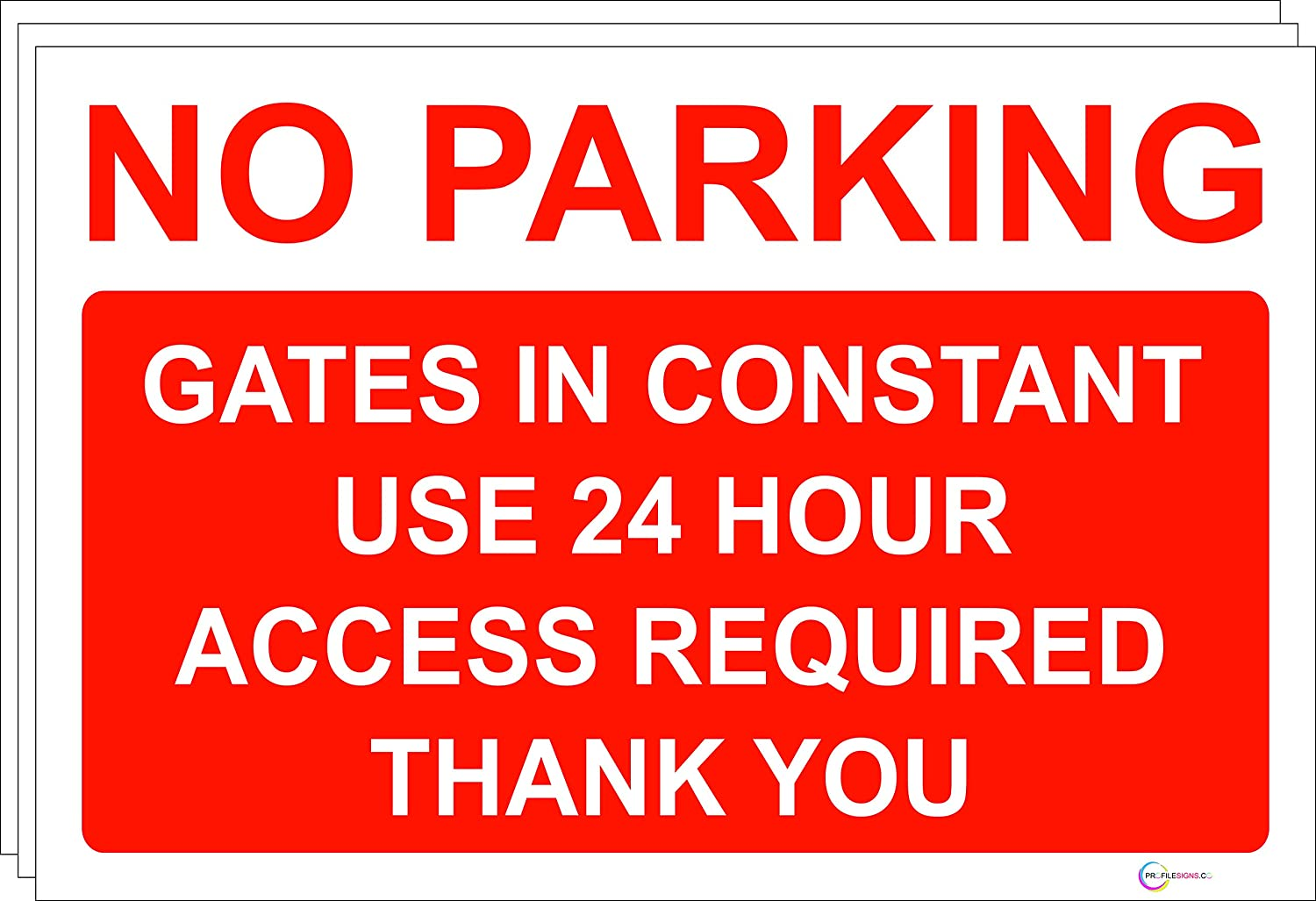 Self Adhesive Sticker No Parking Gates in Constant Use