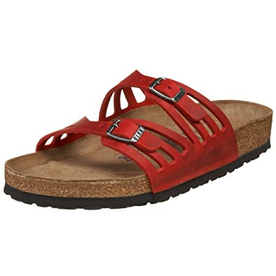 08114de3 Amazon.com: Birkenstock Women's Granada Soft Footbed Sandal,Red ,38 M EU:  Shoes
