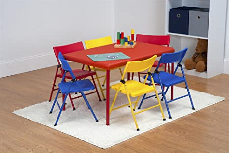 Prime Amazon Com Cosco 7 Piece Childrens Juvenile Set With Pinch Ocoug Best Dining Table And Chair Ideas Images Ocougorg