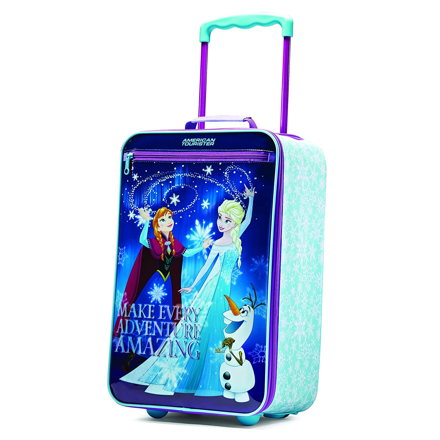2554a4ed4d4 American Tourister Frozen Upright Softside Suitcase Kids Girls Bag Travel  New