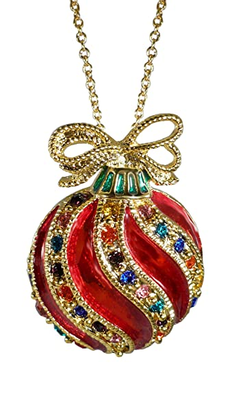 Amazon.com: Bejeweled Christmas Holiday Fancy Ornament 22 Inch Pendant  Necklace BC1240N: Jewelry - Amazon.com: Bejeweled Christmas Holiday Fancy Ornament 22 Inch