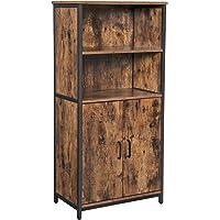 VASAGLE Boekenkast, Boekenkast, Kantoorplank, Keukenkast met 2 open vakken, Plankniveau verstelbaar in kast…