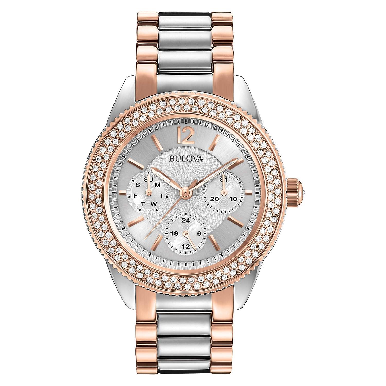 Bulova Women s 98N100 Multi-Function Crystal Bracelet Watch