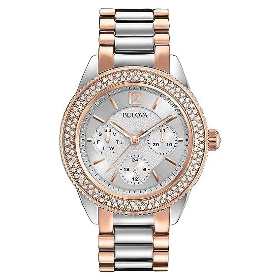 Bulova 98N100 - Reloj de pulsera ladies Mujer, acero inoxidable