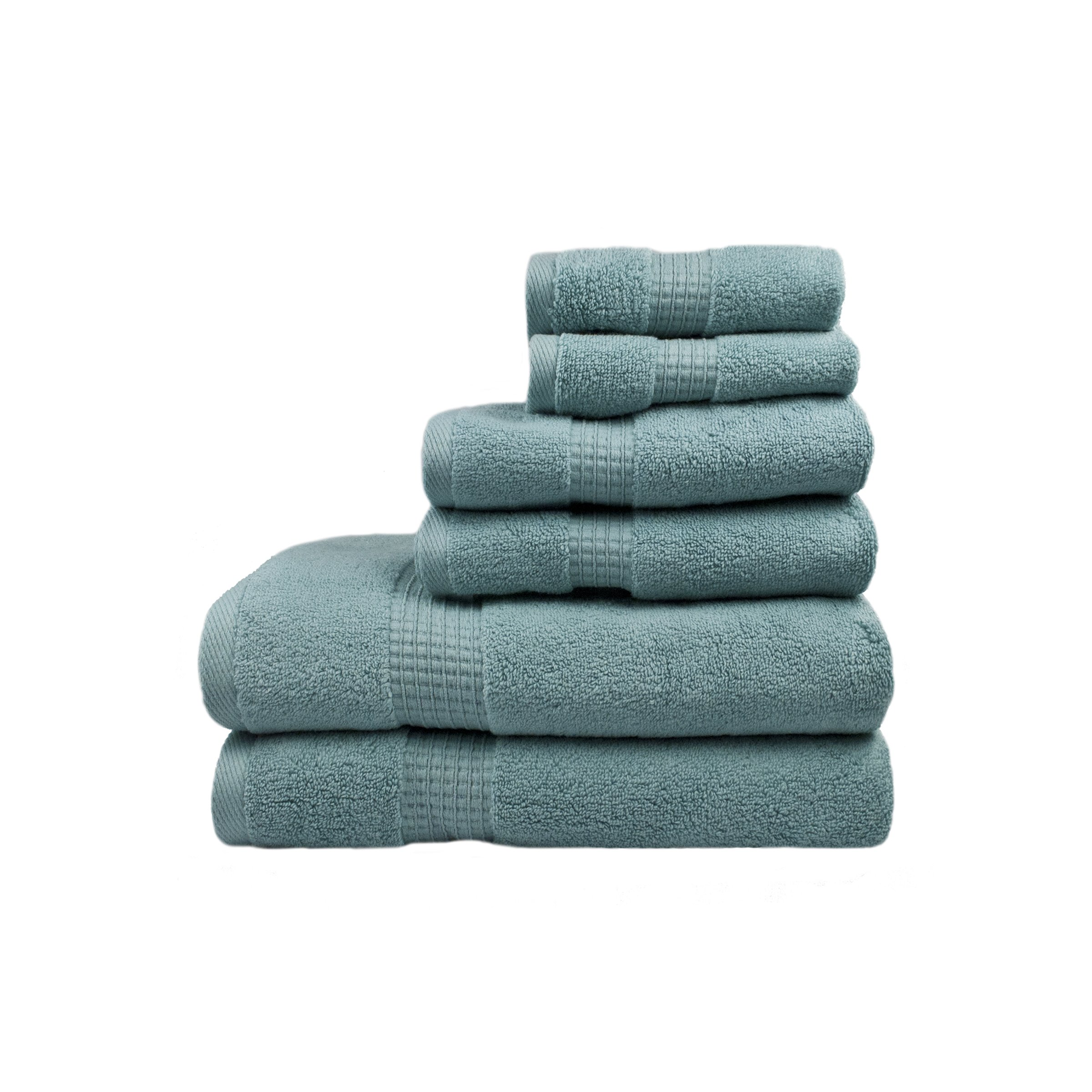Ausin Horn Classics AHC00181-SEA Austin Horn Classics Zero Twist 6Piece Bath Towel Set Seafoam Blue by Ausin Horn Classics