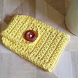 Coffee Mug Cozy Sleeve Cotton Yellow Gift for Her
