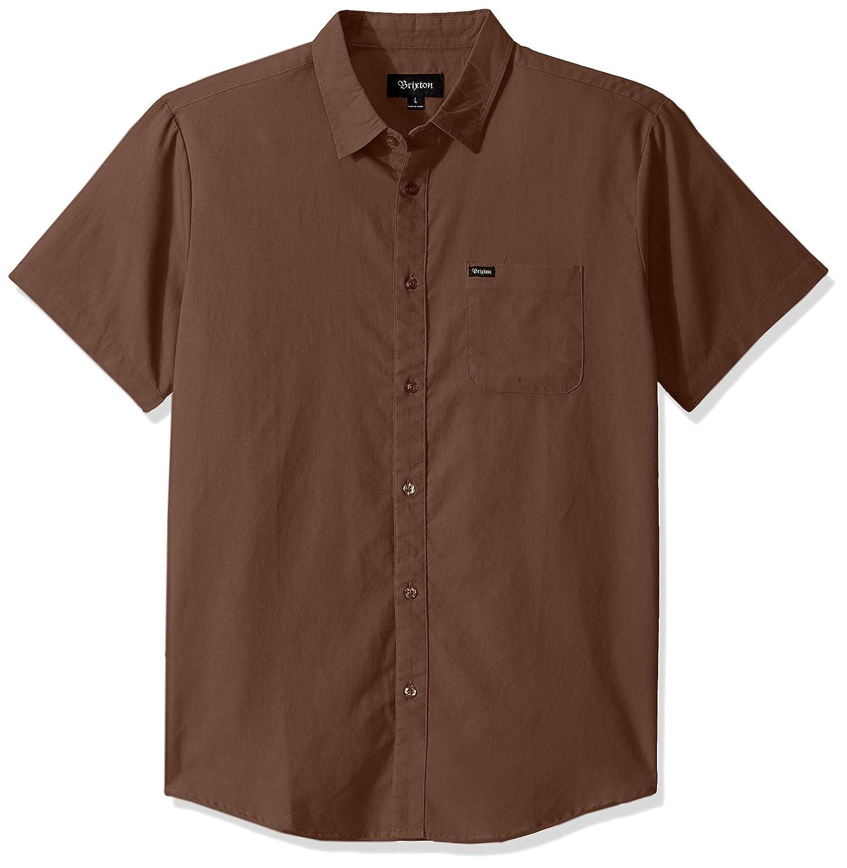 Brixton Mens Charter Oxford Standard Fit Short Sleeve Woven Shirt