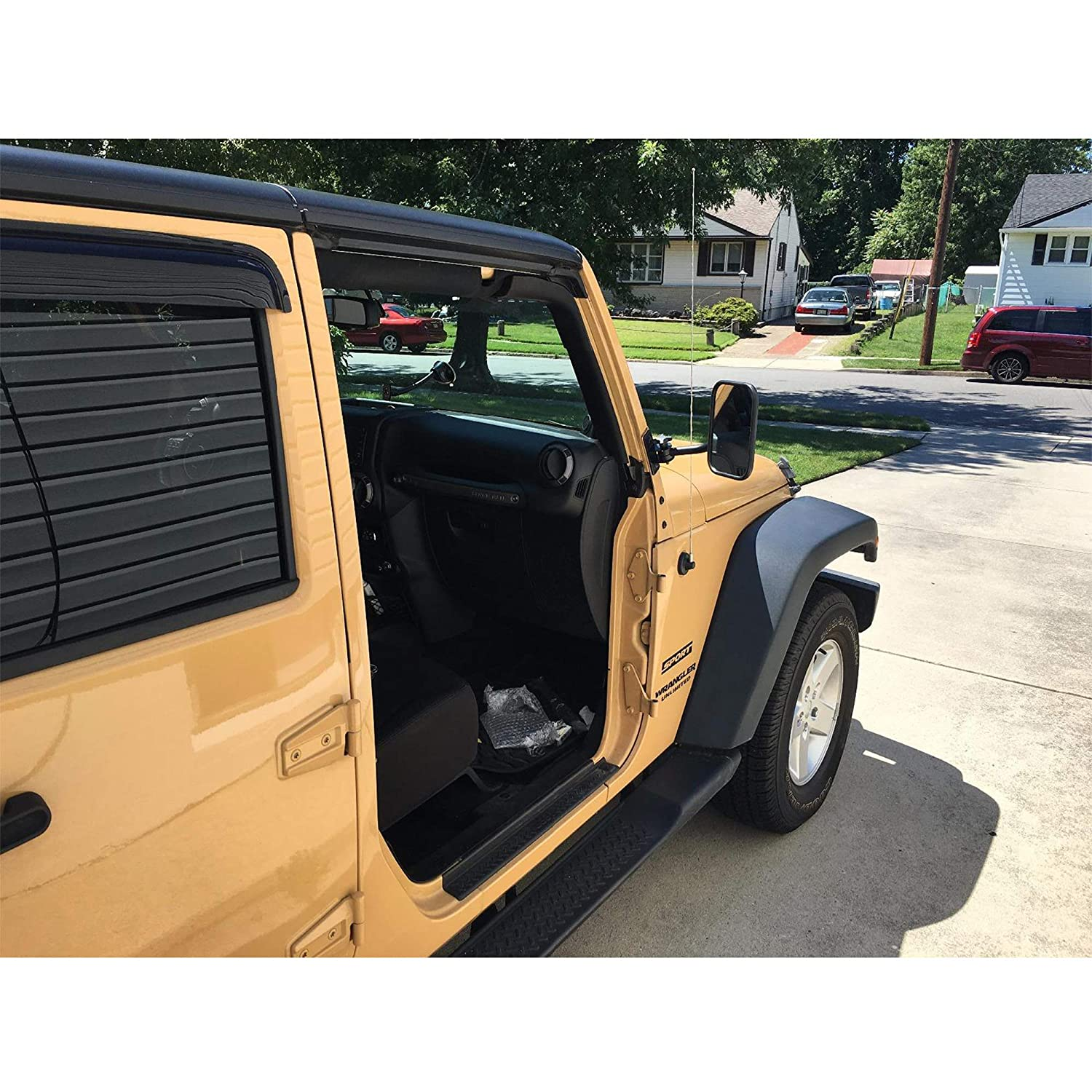 1 Pair Textured Black Jeemitery Doors Off Mirrors 4x4 Doorless Mirrors for Jeep Wrangler Side Mirrors for Jeep Qucik Release Mirrors for Jeep TJ JK-JKU CJ JL