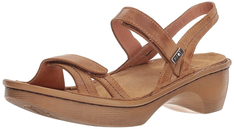 NAOT Women's Brussels Wedge Sandal B0742P1ZH1 42 Medium EU (11 US)|Vintage Camel Wood Sole