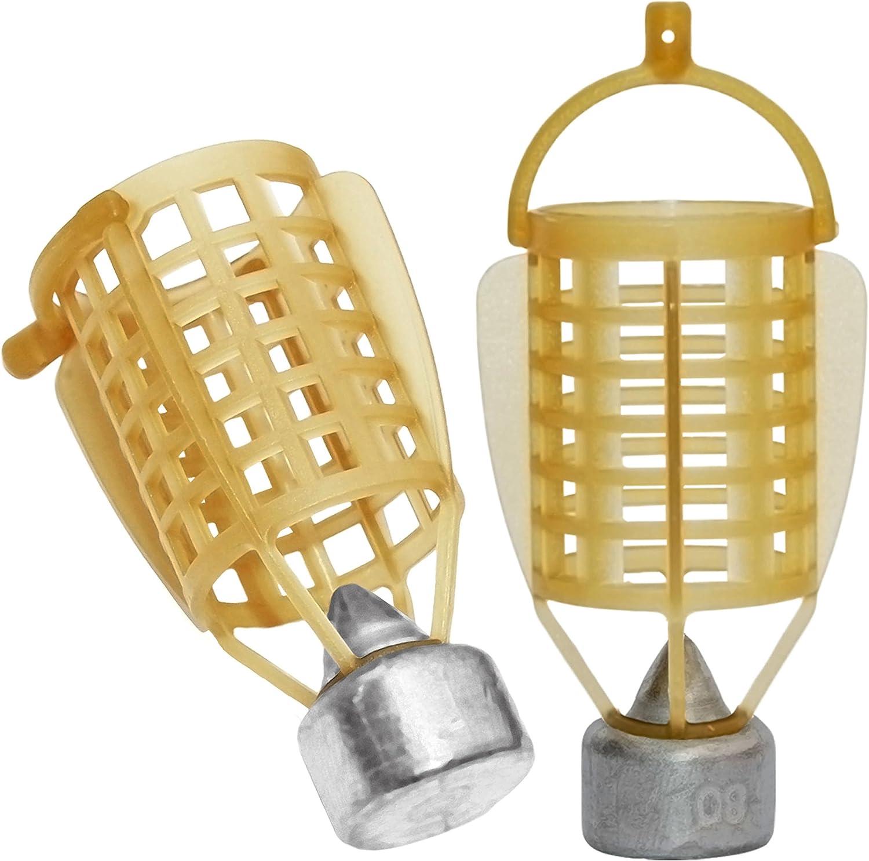 Carp Fishing Bait Cage Feeder Trap Holder Fishing Lure Cage Basket Swim Feeders Fish Bait Lure Coarse Carp Catfish Feeder 40g//50g//60g//70g//80g