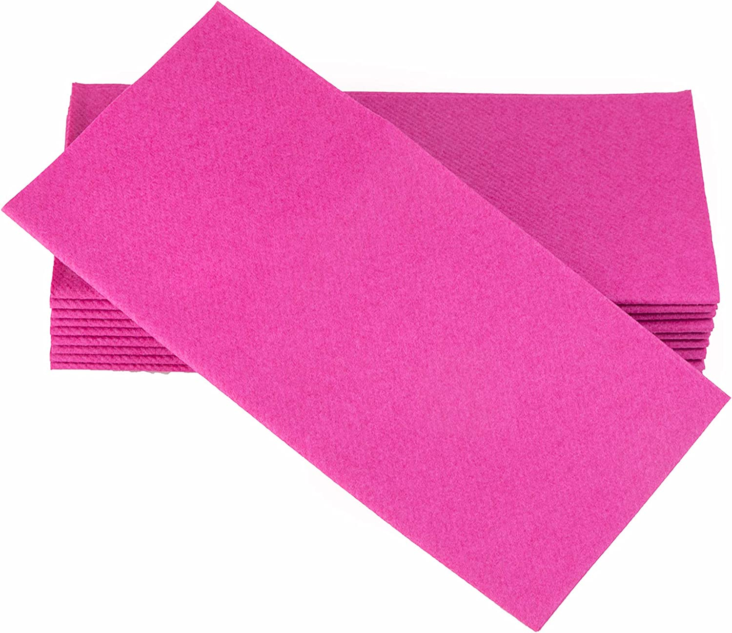 Simulinen Colored Napkins - Decorative Cloth Like & Disposable, Dinner Napkins - Magenta - Soft, Absorbent & Durable - 16