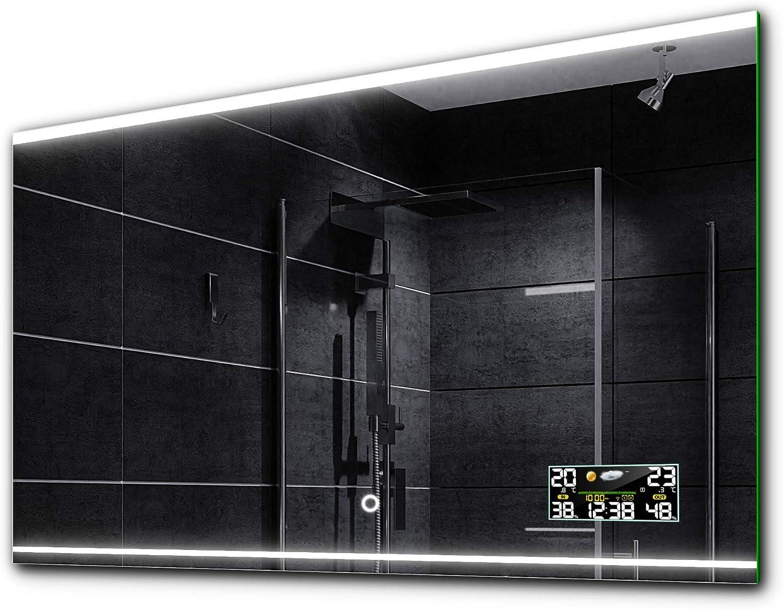 BALTIMORE Led Badspiegel Wandspiegel TOUCHSENSORUHRLED SCHMINKSPIEGEL