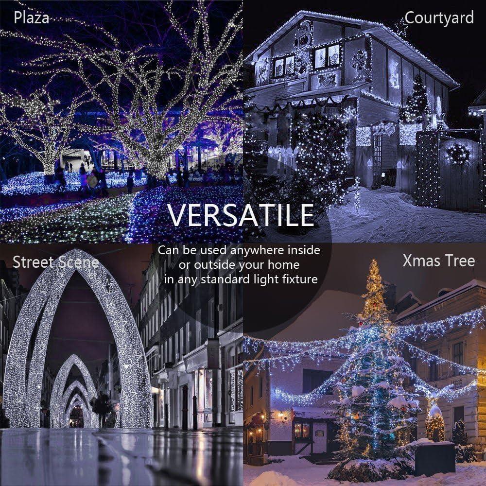 Xmas,Hochzeit Party Geburtstag 100m 600LED Lichterkette Au/ßen Weihnachten Lichterkette f/ür Innen mit 8 Modi Wei/ß Garten