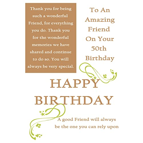 Personalised 50th Birthday Cards Amazon