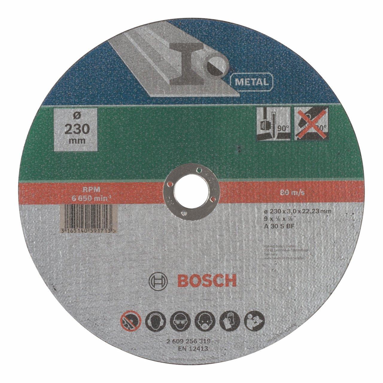 Metallo 115 x 22.23 x 1.6 mm Bosch Mola Taglio Dritta
