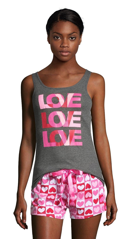 Sleep & Co. Womens Printed Tank Top and Shorts Sleepwear Pajama Set