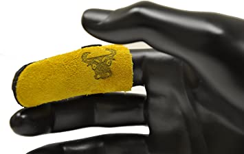 Leather Finger Gloves for Index finger and thumb Thimble,Finger Protectors