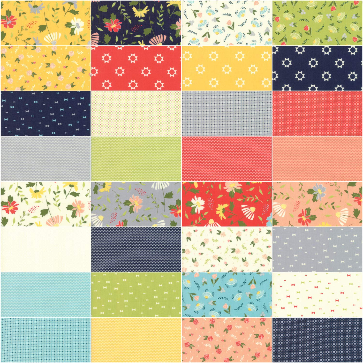 42-10 Precut Fabric Quilt Squares by Sherri /& Chelsi Clover Hollow Layer Cake