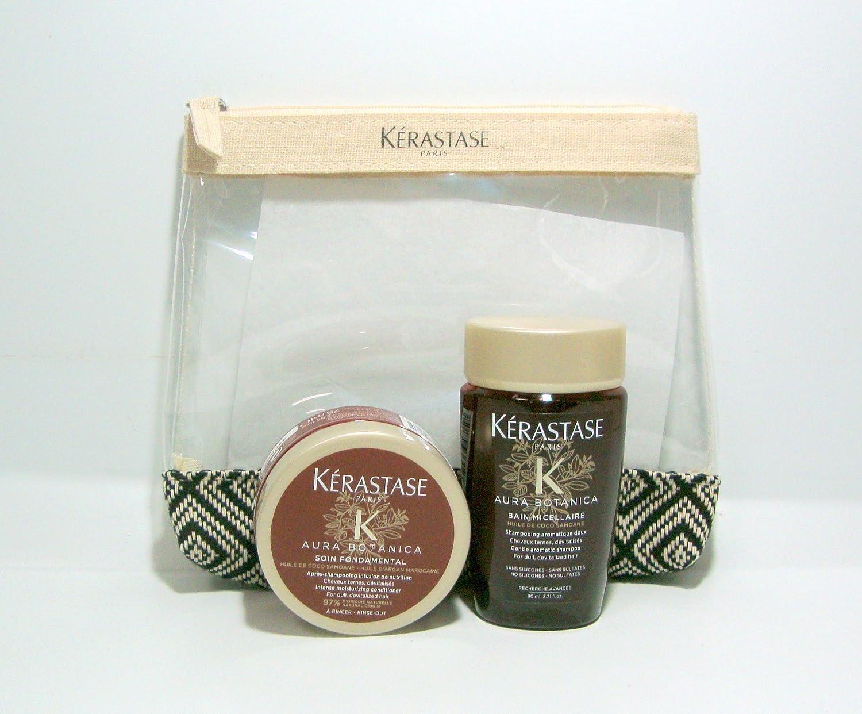 Kerastase Kit da Viaggio Aura Botanica Bain Micellaire 80ml + Masque Micellaire 75ml + Omaggio Pochette