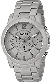 71eeaeff6 Amazon.com: Fossil Mens Grant White Ceramic Chronograph Watch CE5012 ...
