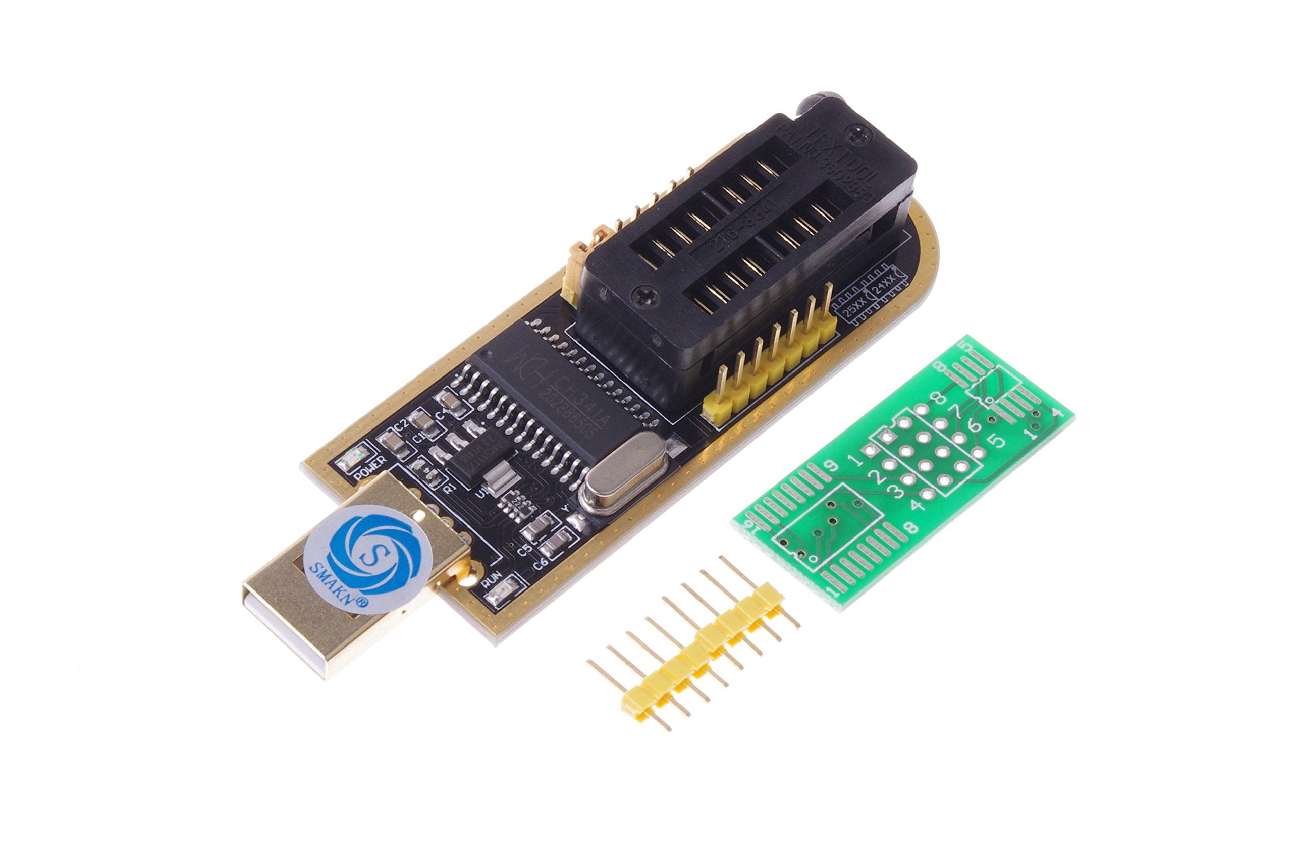 SMAKN USB Programmer CH341A Series Burner Chip 24 EEPROM BIOS LCD Writer 25 SPI Flash