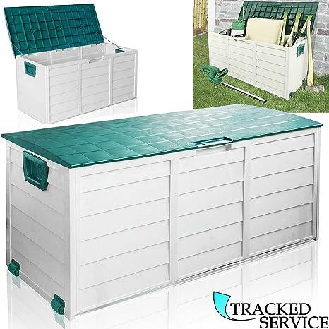 Caja grande de almacenaje para jardín, caja de plástico para accesorios de jardín, 290