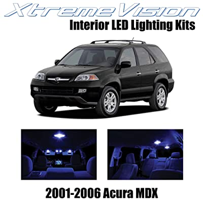 XtremeVision Interior LED for Acura MDX 2001-2006 (14 Pieces) Blue Interior LED Kit + Installation Tool: Automotive